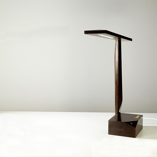 Solid wood splendor holzlampe for Led holzlampe