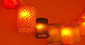 Papierlampions als Dekorationselemente