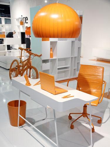 lampe leuchte licht b rolampe deckenlampe bei der imm m belmesse 2010 auf. Black Bedroom Furniture Sets. Home Design Ideas